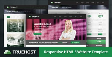 قالب HTML5 هاستینگ با نام TrueHost