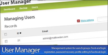 اسکریپت مدیریت کاربران User / Member Manager