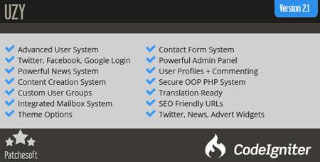 uzy user managment script اسکریپت ورود و عضویت کاربران UZY
