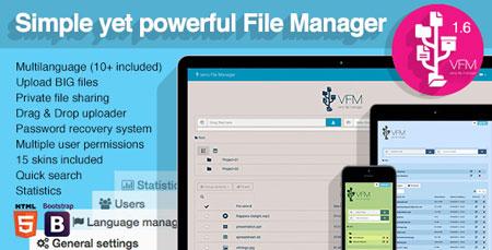اسکریپت مدیریت و اشتراک گذاری فایل Veno File Manager نسخه 1.6.7