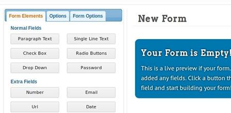ساخت انواع فرم برای وب سایت با اسکریپت Visual Form Builder