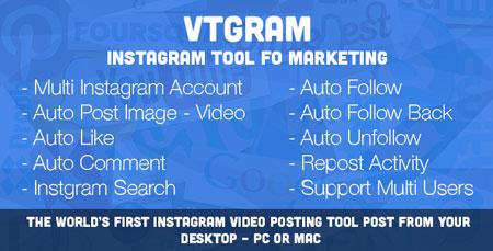 اسکریپت ربات اینستاگرام VTGram نسخه ۱٫۲
