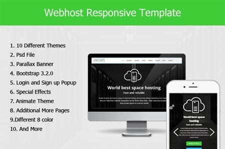قالب HTML هاستینگ و میزبانی وب Webhost