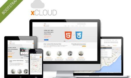 قالب زیبای xCloud به صورت HTML5 و CSS3