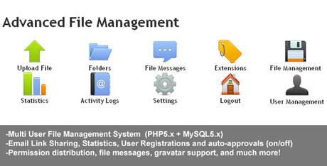 اسکریپت مدیریت فایل Advanced File Management نسخه 1.0.4