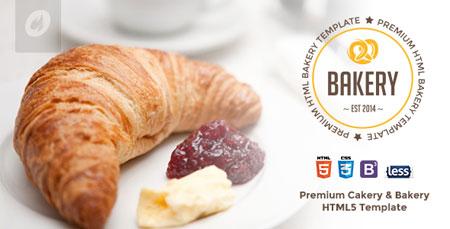 قالب وب سایت رستوران و کیک و شیرینی Bakery به صورت HTML