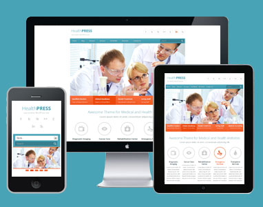 پوسته وب سایت پزشکی HealthPress سیستم وردپرس
