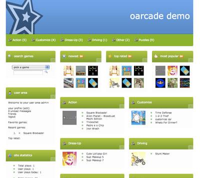 اسکریپت بازی آنلاین فلش Oarcade