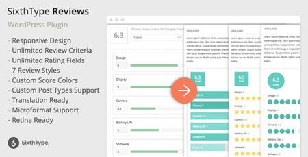 افزونه نقد و بررسی وردپرس SixthType Reviews نسخه 1.0