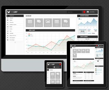 قالب مدیریت سایت حرفه ای Starlight به صورت HTML