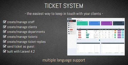 اسکریپت ارسال تیکت و پشتیبانی TICKET SYSTEM