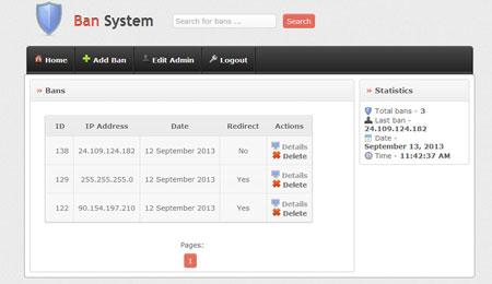 اسکریپت اخراج کاربران از سایت Ban System نسخه 1.2