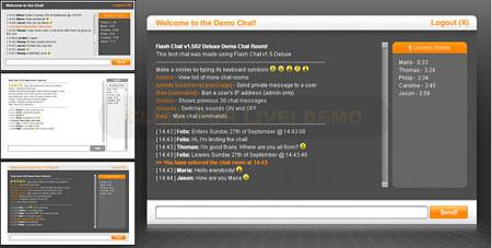 اسکریپت چت روم فلش Flash Chat به همراه چهار قالب متفاوت