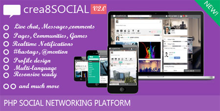اسکریپت شبکه اجتماعی crea8social نسخه 2
