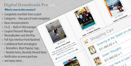 اسکریپت دانلود به ازای پرداخت مبلغ Digital Download Pro نسخه 2