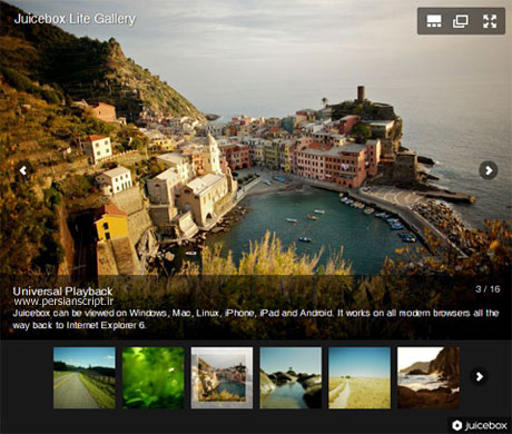 ایجاد گالری عکس HTML5 با اسکریپت Juicebox Lite