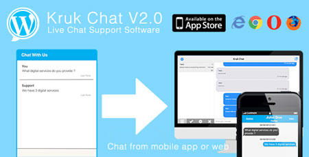 افزونه پشتیبانی کاربران و چت آنلاین Kruk Chat