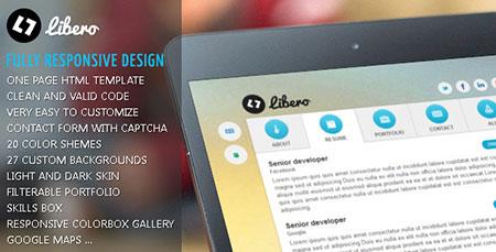 قالب زیبای vCard  سایت شخصی Libero
