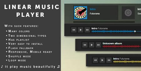 اجرای موسیقی آنلاین در وب سایت با اسکریپت Linear Music Player