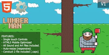 اسکریپت بازی آنلاین HTML و اندروید مرد الوار فروش LumberMan نسخه 1.0