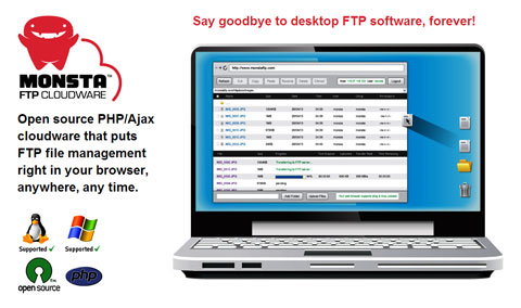 monstaftp اسکریپت مدیریت فایل ها از طریق FTP با Monsta FTP