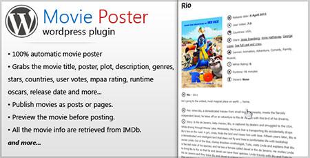 افزونه نمایش اطلاعات فیلم ها Movie Poster