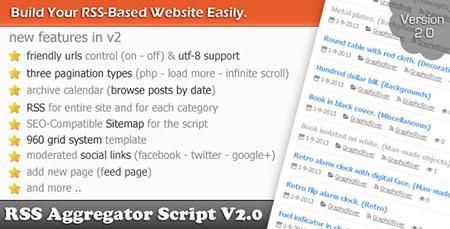 اسکریپت خبرخوان RSS Aggregator Script نسخه 2.0