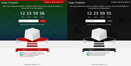 قالب زیبای صفحه در دست ساخت Stage به صورت HTML