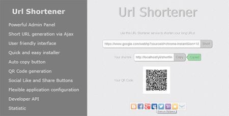 اسکریپت کوتاه کننده لینک Url Shortener نسخه 1.1