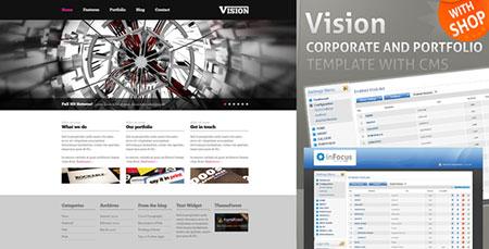 قالب Vision همراه با سیستم مدیریت سایت و فروشگاه