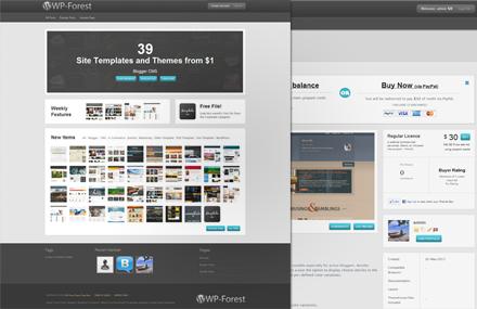 با قالب WP-Forest وردپرس خود را تبدیل به سایت ThemeForest کنید!