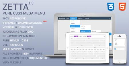 ایجاد منو های CSS3 با Zetta Menu